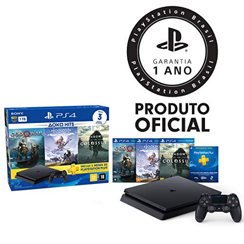 Console PlayStation 4 - 1TB Slim - Bundle Hits 4