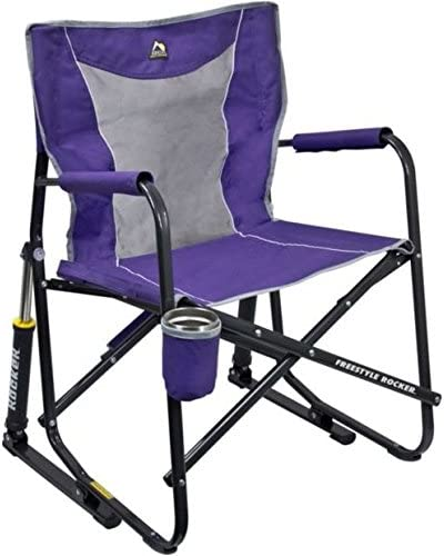 GCI Outdoor Freestyle Rocker Mesh Chair Purple