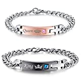 #6: NEHZUS His and Hers Stainless Steel Matching Bracelet for Couple