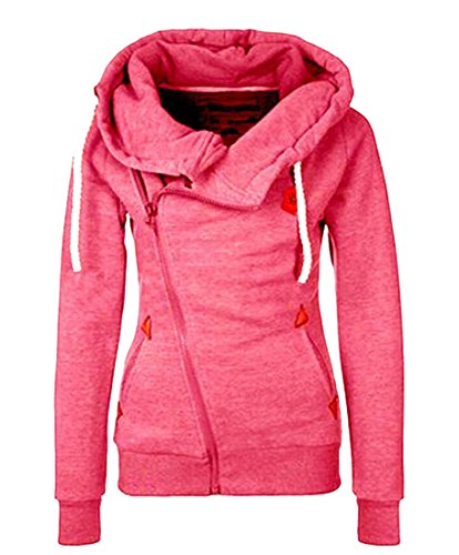 Womens Casual amp;W Drawstring Sleeve Red M amp;S Sweatshirts Hoodies Long 4xEwvCtCq