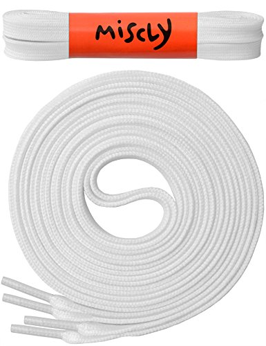 """UPC 641938635294, Flat Shoelaces [3 Pairs] 5/16"""" Wide - For All types of Shoes & Sneakers - By Miscly (45"""", White)"""