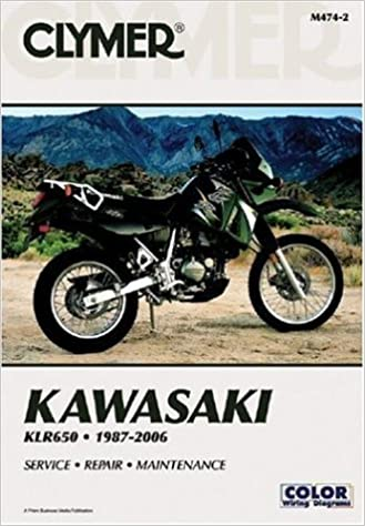 kawasaki klr service repair maintenance clymer kawasaki klr650 1987 2006 service repair maintenance clymer motorcycle repair clymer staff 9781599690490 com books