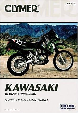 kawasaki klr650 1987 2006 service repair maintenance clymer rh amazon com 2006 KLR 650 Aftermarket Parts 2006 kawasaki klr650 service manual