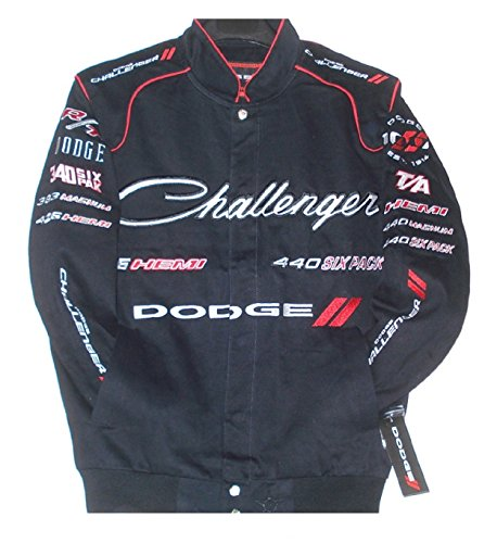 Dodge Challenger Embroidered Cotton Twill Jacket Size (Embroidered Challenger Jacket)