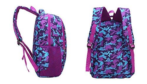 Rucksack Damen Herren Studenten Backpack Mysuesse 14 Zoll Laptop Rucksack für 14 Notebook Lässiger Daypacks Schüler Backpacks Schultaschen für Wandern Reisen Camping Lila Camouflage TPFW0