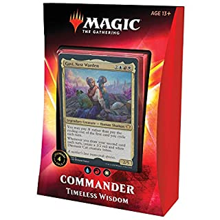 Magic: The Gathering Timeless Wisdom Ikoria Commander Deck | 100 Card Deck | 4 Foil Legendary Creatures