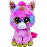 TY Beanie Boos - FANTASIA the Unicorn (Glitter Eyes) (LARGE Size - 17