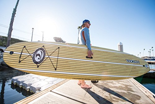 """CBC 10'6"""" Classic Foam Paddle Board SUP Package: Adjustable Paddle, SUP Leash, One Center Fin, Camera Mount, Protective Tail Cap & Roof Racks!"""