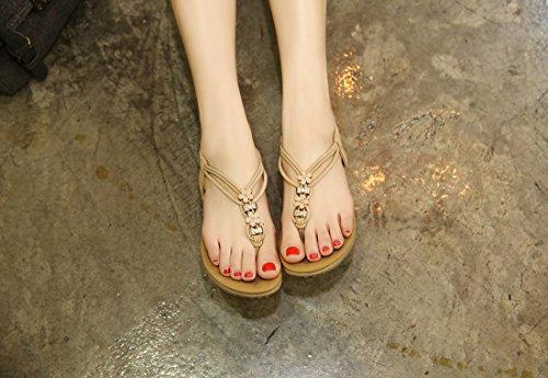 De Flip Albaricoque Zapatos Las Los Planas flops Para Señoras Verano Ruiren Mujeres Sandalias gHEYqwz7