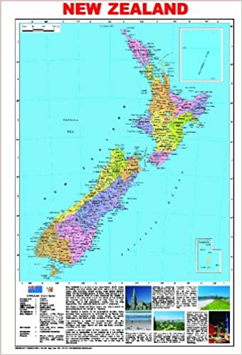 Political Map Of New Zealand.Buy New Zealand Political Map Book Online At Low Prices In India