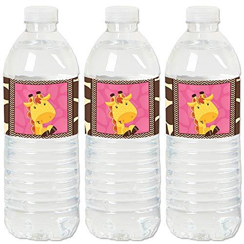 Giraffe Girl - Baby Shower or Birthday Party Water Bottle Sticker Labels - Set of 20 ()