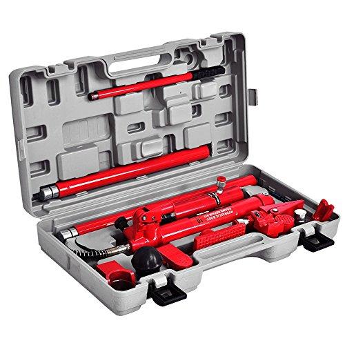 10 Ton Porta Power Hydraulic Jack Body Frame Repair Kit Auto Shop Tool Heavy Set (Hex Band Saw)