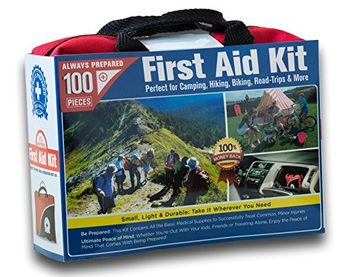 Small 100-Piece First Aid Kit made our list of camping safety tips for families who RV and tent camp