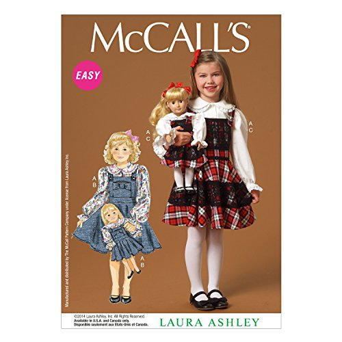 McCall's Patterns M7010 Children's/Girls'/Dolls' Top and Jumpers, CL (Small Doll Pattern)