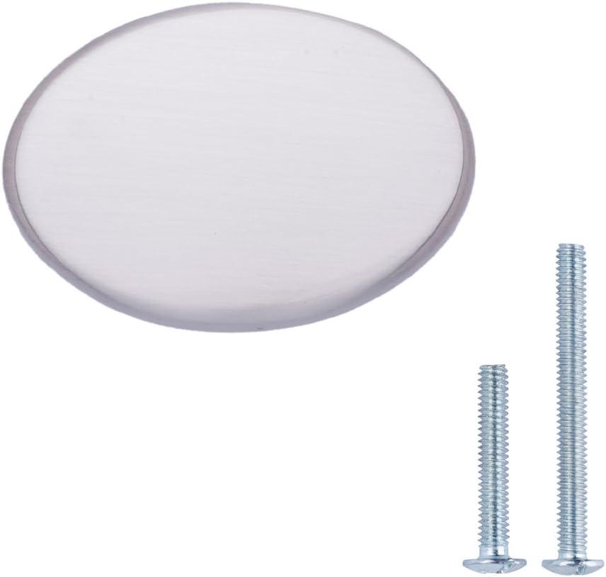 3,17 cm Chrome poli Basics Lot de 25 boutons de placard ronds Motif tress/é Diam/ètre