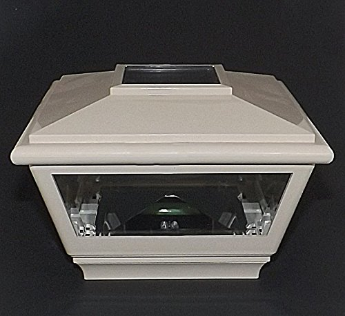 White 5' Solar Cap for Vinyl or Wood Posts For that Ambient Lighting to Accent your Yard