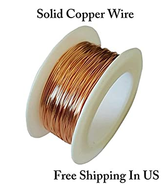 24 Ga Bare Copper Wire 100\' Spool (pack of 1 ): Amazon.com ...