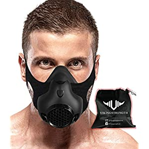 Vikingstrength New 24 Levels Training Workout Mask for Running Biking MMA Endurance with Adjustable Resistance, High…