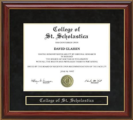 Amazon College Of St Scholastica Css Diploma Frame Mahogany