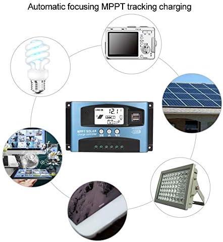 Ladekarten-Controller, MPPT 40/50/60/100A Solar-Ladekarten-Controller Dual USB LCD Display 12V 24V(60A)