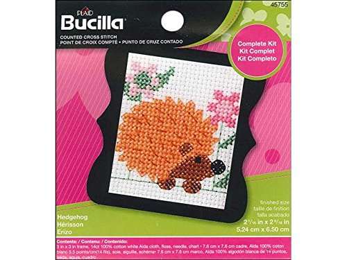 BUCILLA 45755 Counted Cross Stitch Beginner Stitchery Mini K