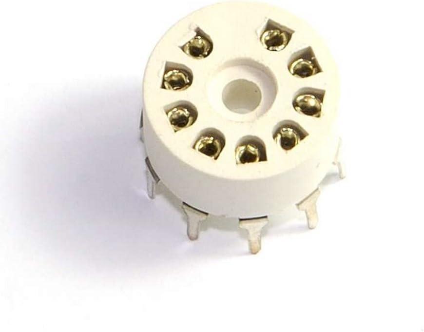 Cary 8pcs 9 Pin Plastic Tube Socket PCB Mount B9a Base Tube Amp for 12ax7b 12au7 Diy