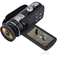 Full HD 1080P 16X 270° Rotation Digital Camcorder Camera Video Recorder + Wide Angle Lens