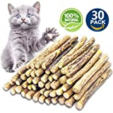 SAVING NOW Catnip Sticks 30 Pcs Matatabi Cat Stick Catnip Chew Sticks Pet Kitten Cleaning Teeth Healthy Care Organic Silver Vine Bully Sticks Ecological Toothbrush Dental Treats Molar Chew Toy
