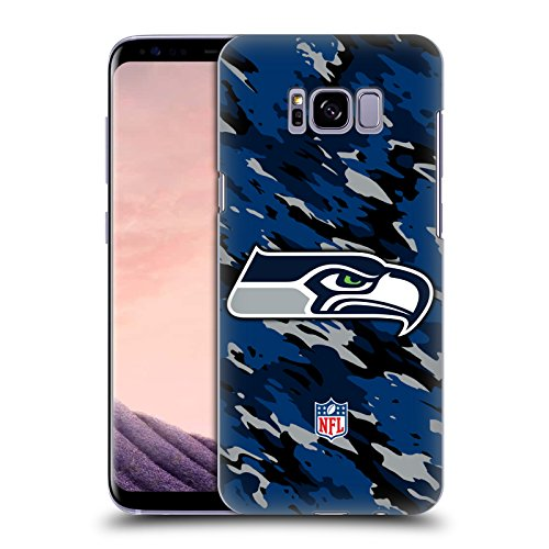 Official NFL Camou Seattle Seahawks Logo Hard Back Case for Samsung Galaxy S8+ / S8 Plus
