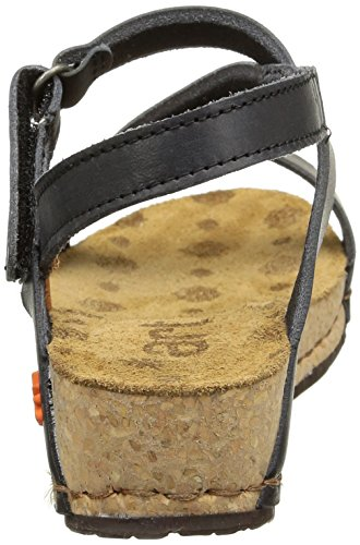 Art Pompei, Women's Ankle Strap Sandals Black
