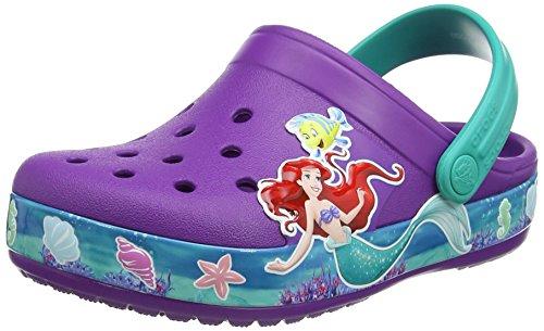 Crocs Girls' CB Princess Ariel K Clog, Amethyst, 5 M US Toddler (For Crocs Infants)