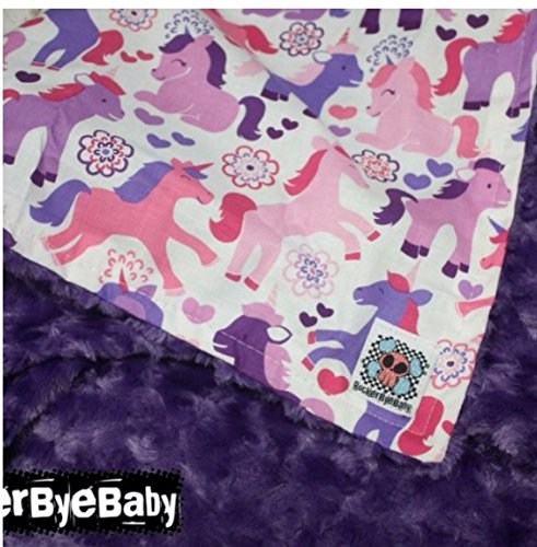 6ef69219c0 ... Custom Baby or Toddler Blanket in any color scheme and print combo with  minky on back ...
