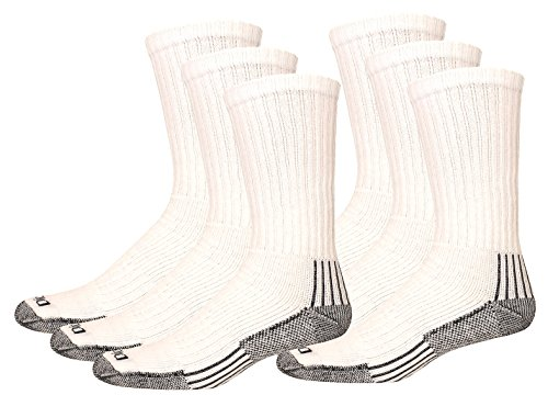 Dickies Men's Big-Tall 3 Pack Heavyweight Cushion with Compression Crew Socks, White, 13-15 Sock/12-15 (Dickies Thermal Work Pants)