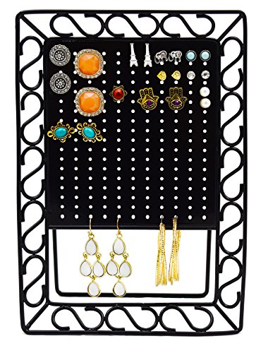 Mango Steam Mini Metal Earring Jewelry Organizer, Black