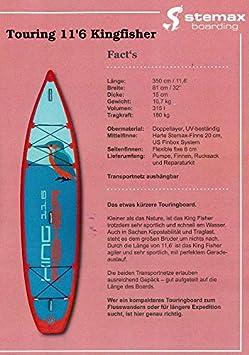 SUPwave Stemax Touring Kingfisher 116 Sup - Tabla Hinchable ...