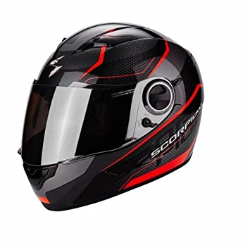 Scorpion Casco Moto exo-490 Vision, Black/Neon Red, XS