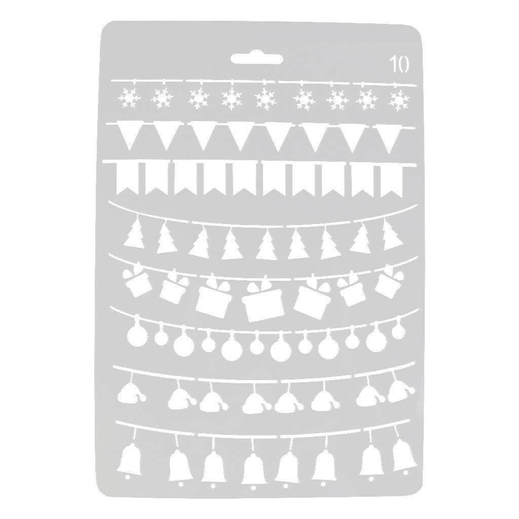 Troqueles para /álbumes de Recortes VEMOWJuego de Troqueles DIY Troqueles Scrapbooking Navidad en relieve troqueles de corte plantillas molde para bricolaje /álbum de Scrapbooking tarjeta de papel H