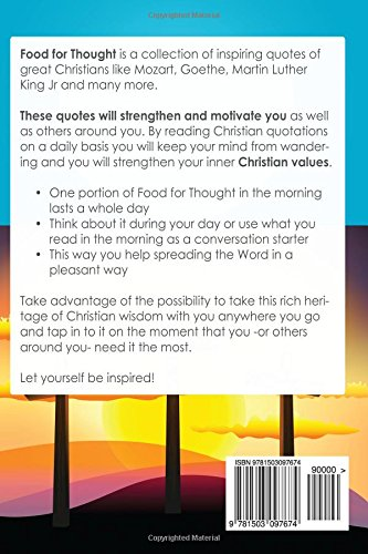 Amazon Food For Thought 60 Christian Quotes To Start Your Day Magnificent Food For Thought Quotes