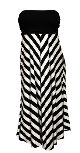 Bottom Tube Dress (eVogues Women's Striped Dress Skirt Black - 2X)