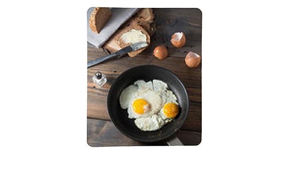 alfombrilla de ratón huevos fritos en una sartén con pan integral: Amazon.es: Electrónica