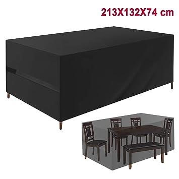 Favoto Housse Salon de Jardin Bâche Table de Jardin 213 * 132 * 74cm ...