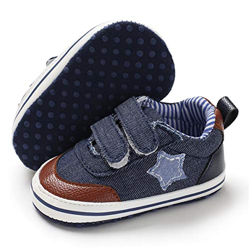 BENHERO Baby Boys Girls Canvas Toddler Sneaker Anti-Slip First Walkers Candy Shoes 0-24 Months 12 Colors (0-6 Months M US Infant, - Shoes Baby Crib Boys For