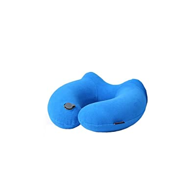 S&H Oreiller gonflable oreiller U-Aéronefs Protection voyage oreiller de voyage Oreiller cervical Fournitures Artefact oreiller gonflable (Couleur: mauve)