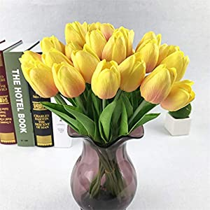 AMOFINY Home Decor Tulip Artificial Flower Latex Real Bridal Wedding Bouquet Home Decoration 20pcs 49