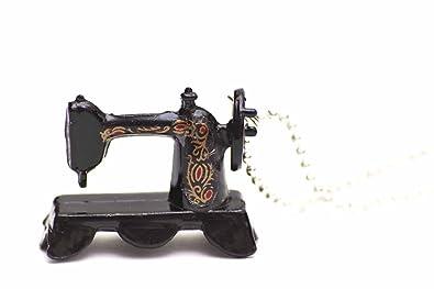 miniblings Collar de Cadena de Coser máquina de Coser 80cm Sastre costurera schwz: Amazon.es: Joyería