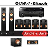 Klipsch RP-250F 7.1-Ch Reference Premiere Home Theater System with Yamaha AVENTAGE RX-A870BL 7.2-Channel Network AV Receiver