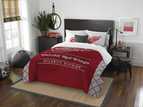 """The Northwest Company Detroit Red Wings """"Draft"""" Full/Queen Comforter & Shams Set Official NHL by The Northwest Company"""