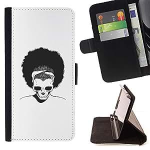 Momo Phone Case / Flip Funda de Cuero Case Cover - Afro Cráneo;;;;;;;; - Samsung Galaxy S6 Active G890A