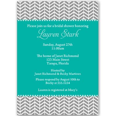 Amazon bridal shower invitations chevron stripes teal blue bridal shower invitations chevron stripes teal blue aqua turquoise filmwisefo