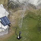 Nesee Solar Power Pool Garden Pond Watering Submersible Water Panel Fountain Pump Kit (Black)